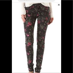 """Joes Jeans """"The Skinny"""" Electric Black Floral"""